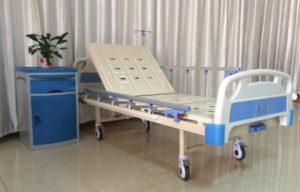 Giường bệnh nhân ABS 1 tay quay
