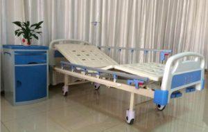 Giường bệnh nhân ABS 2 tay quay